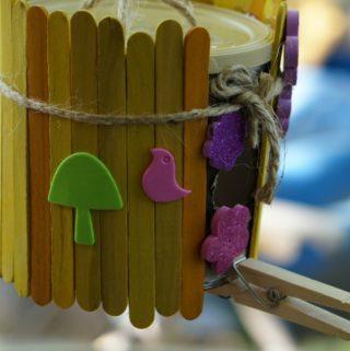 Crafty Bird Feeder from Baby Formula Can