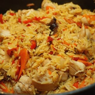 One Pot Orzo Chicken with Veggies Meal for Children