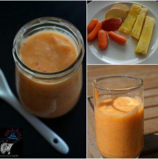 Homemade Baby Food Puree- Pineapple Carrot Apple