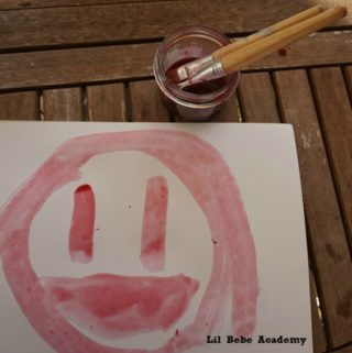 Kids Art Painting with Juice from Mexican Prickly Cactus Pear