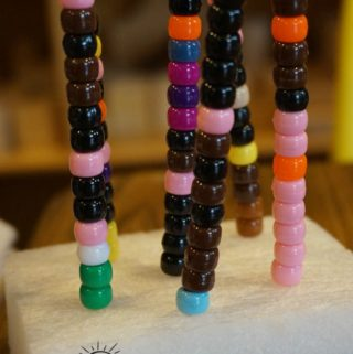 Toddler and Preschooler Fine Motor Skills Color Recognition With Craft Beads