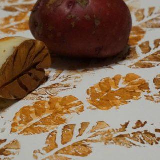 Make Beautiful Kids Artwork with Irish Potato Leaf Stamps