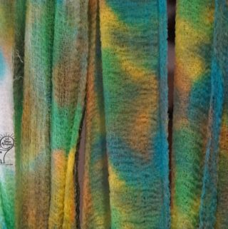 Tie Dye Gauze to Create a Magical Wrap for Kids Craft