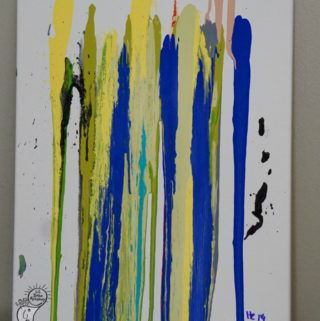 Drip Paint on Canvas to Create Beautiful Transient Art for Kids Rooms
